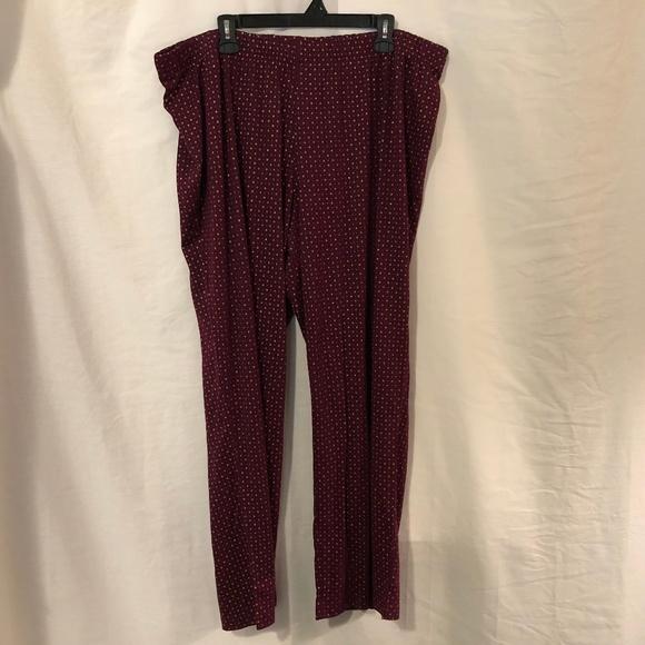 Lane Bryant Cacique Lounge Jogger Sleep Wear Pant Bottom Plus Size 18//20 2X NWT